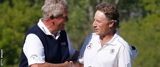 Colin Montgomerie and Bernhard Langer