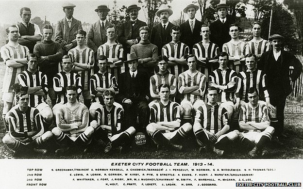 Exeter City Football Club's 1914 squad