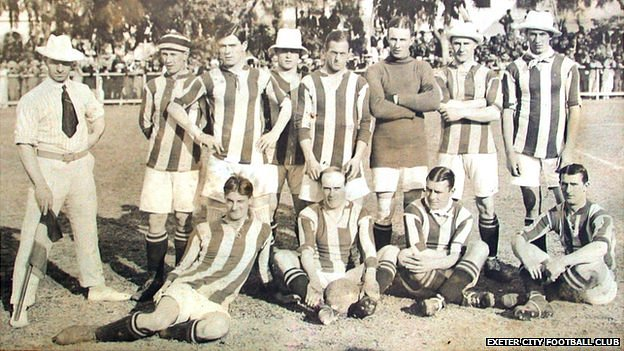 Exeter City Football Club during the South American tour in 1914