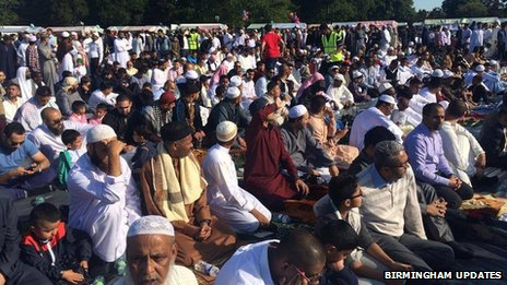 Prayers at Small Heath Park