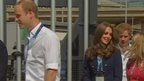 HRH Prince Williams, his wife Kate, the Duchess of Cambridge, and brother Prince Harry