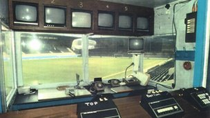 Police control box at Hillsborough