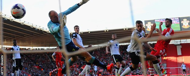Jay Rodriguez scores for Southampton against Norwich City