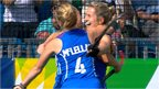 Scotland's Alison Bell celebrates her goal against Wales