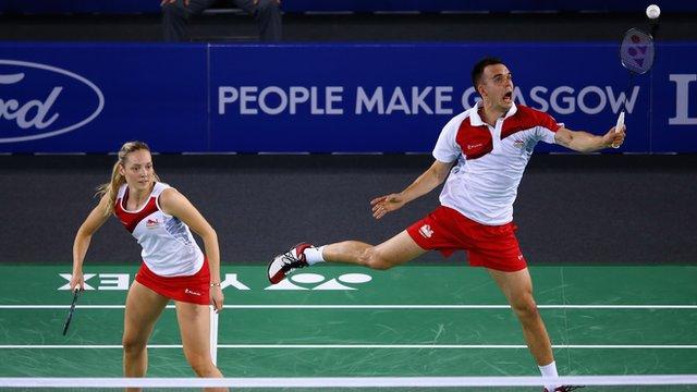 England badminton players Gabrielle and Chris Adcock