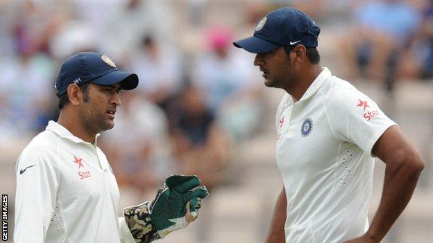 India captain Mahendra Dhoni and paceman Pankaj Singh