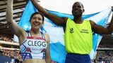 Libby Clegg and guide Mikail Huggins