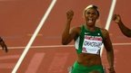 Nigeria's Blessing Okagbare wins women's 100m gold