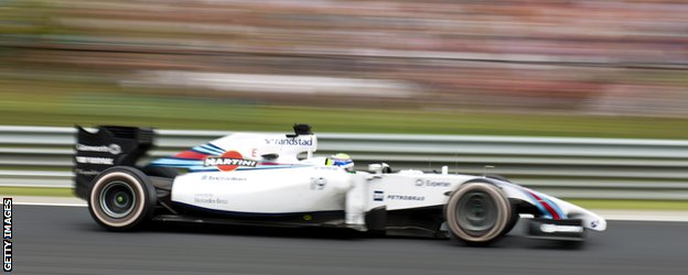 Williams F1 Car at the Hungarian Grand Prix