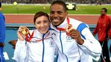 Libby Clegg and her guide Mikail Huggins