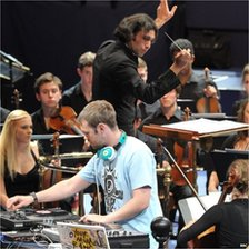 Conductor Vladimir Jurowski and DJ Yoda perform Gabriel Prokofiev's Concerto for Turntable in 2011