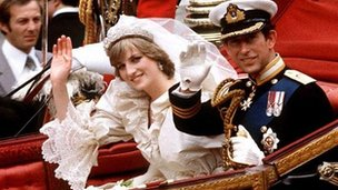 The wedding of Prince Charles and Lady Diana Spencer