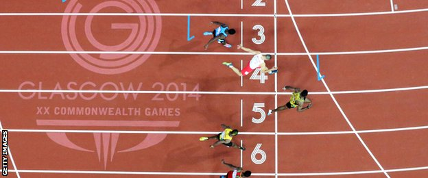 Kemar Bailey-Cole wins with Adam Gemili second at Glasgow 2014