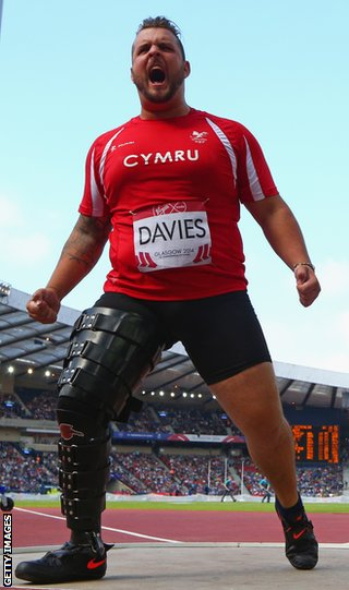 Aled Davies missed out on gold