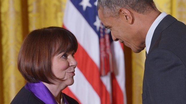 Linda Ronstadt and Barack Obama