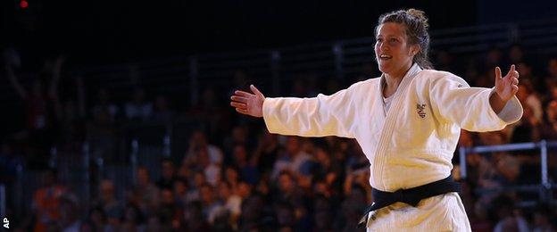Natalie Powell won judo gold