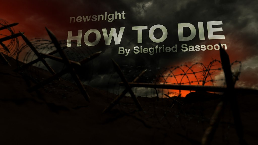 How to die poem by siegfried sassoon analysis