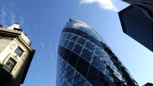 The Gherkin skyscraper in the City of London