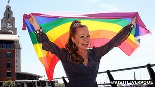 Sonia and Pride flag