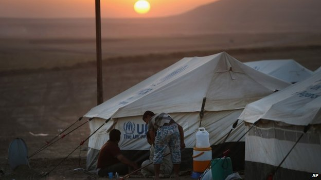 Syria refugees in Jordan's Zaatari camp