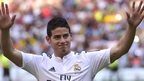 Real Madrid's recent signing James Rodriguez