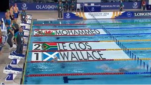 Wallace wins race at Glasgow 2014