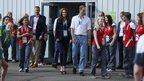 The Duke and Duchess of Cambridge  at National Hockey Centre
