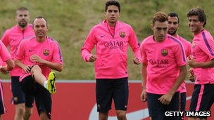 Barcelona training session