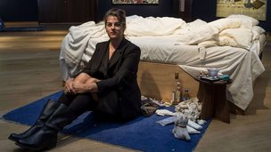 Tracey Emin beside My Bed