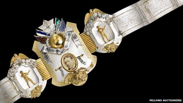 American Holske International Challenge Belt presented to Jem Carney