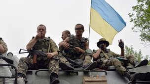 Ukrainian soldiers near Sloviansk, 18 Jul 14