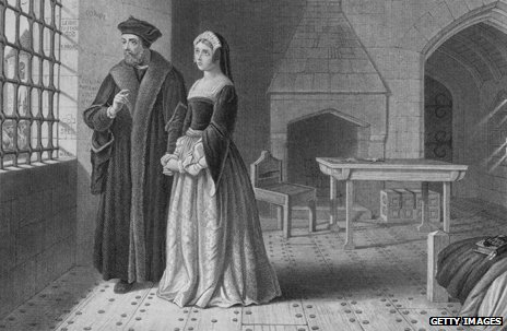 Thomas More with his daughter Margaret Roper during his imprisonment
