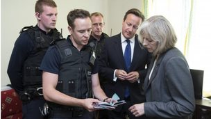 Prime Minister David Cameron and Home Secretary Theresa May Visit Slough