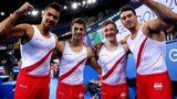 Louis Smith, Max Whitlock, Nile Wilson and Kristian Thoma