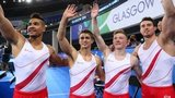 England's Louis Smith, Max Whitlock, Nile Wilson and Kristian Thomas