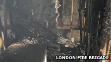 Bromley launderette after fire damage