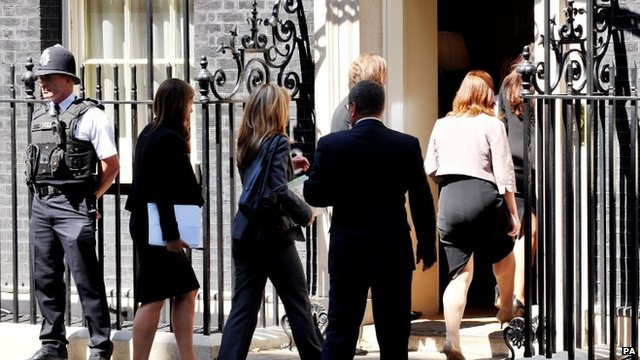 Families of Britons killed in the downing of MH17 arrive in Downing Street for a meeting with David Cameron