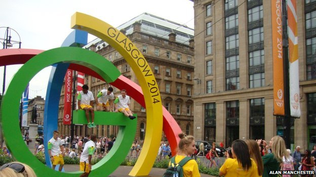 South African gymnasts at the Big G in George Square