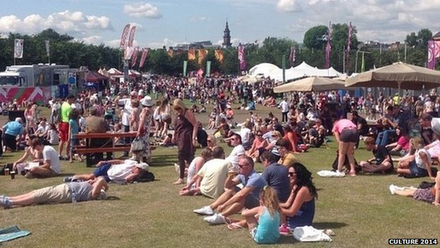 Busy weekend at Glasgow Green
