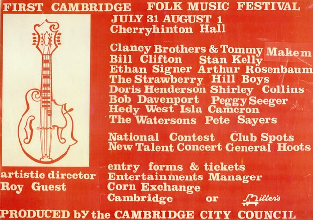 The first Cambridge Folk Festival poster