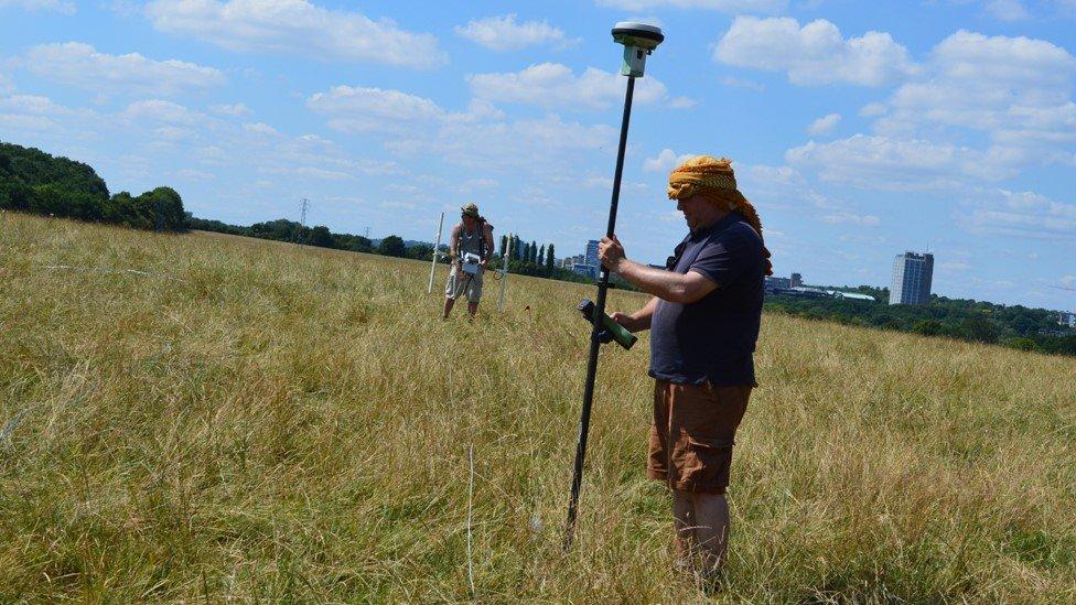 Geophysical survey at Basing Common