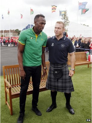 usain bolt and chris hoy