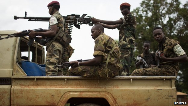 Seleka fighters in Bambari, CAR - May 2014