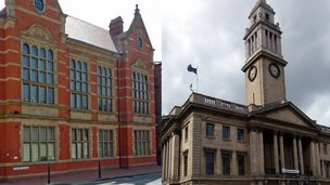 County Hall, Beverley (L), Hull Guildhall (R)