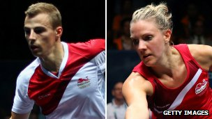 Duffield's Nick Matthew and Laura Massaro