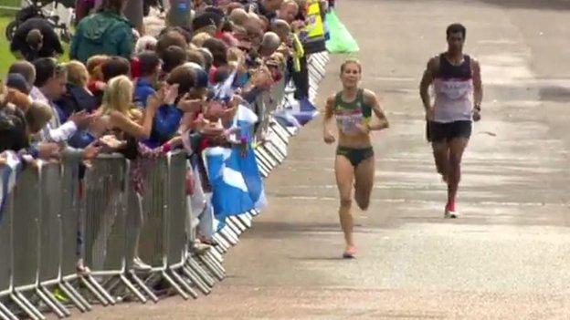 Tongia Vakaafi behind Jess Trengove of Australia