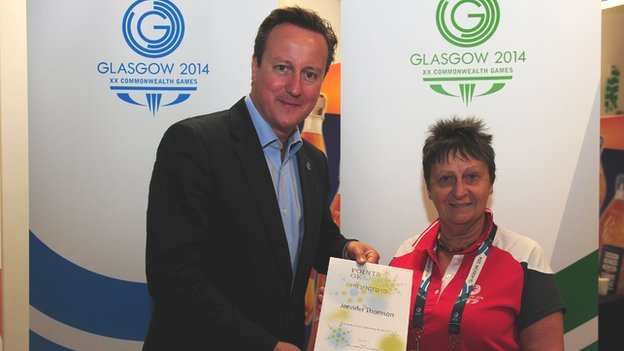 David Cameron and Jenny Thomson