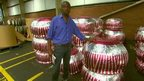 Clive Myrie with giant teacakes