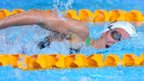 Jazz Carlin of Wales in the pool at Glasgow
