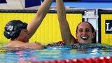 Georgia Davies celebrates with England's Lauren Quigley